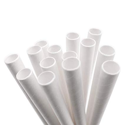 "7.75"" Paper Jumbo Wrapped Straw - Bagged (500)"