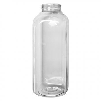 16oz Clear Pet Square Bottle