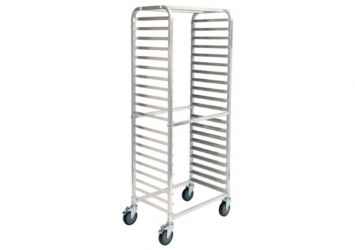 (1) AWRS-20BK 20 Tier Aluminum  Sheet Pan Welded Rack Side